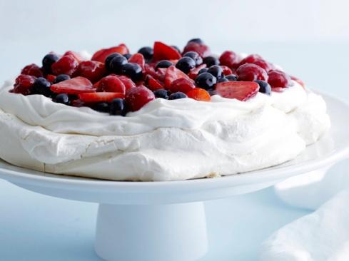 barefoot contessa, mixed berry pavlova, meringue, berries