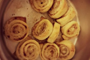 cinnamon rolls, leftover pie crust, pie crust, cinnamon, sugar, caramelization